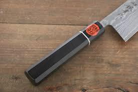 shigeki tanaka r2 black damascus santoku japanese chef knife 165mm