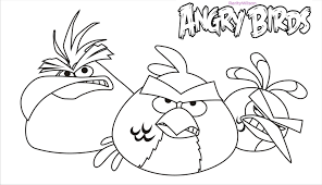 angry bird rio coloring pages