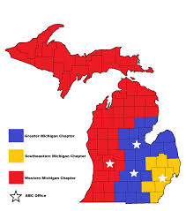 Western Michigan Map by Michigan Chapters