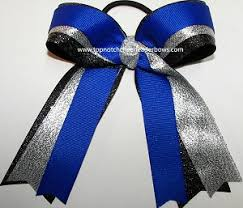 ribbon for hair that says gymnastics bulk blue gymnastics bow sparkly gymnastic blue ribbon bow