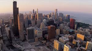 Sears Tower by Aerial High Elevation View Of Sears Tower Chicago Usa Stock Video