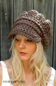 free pattern newsboy cap free crochet slouchy hat patterns for women bing images pinteres