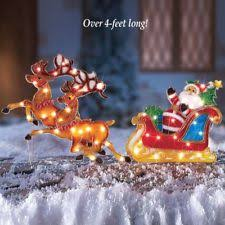 Outdoor Christmas Decorations Sleigh by Outdoor Santa Sleigh Ebay