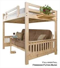 Full Over Full Futon Bunk Bed by Full Bed Futon Furniture Shop