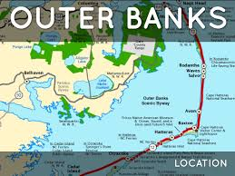Map Of Outer Banks Outer Banks By R Gibbs