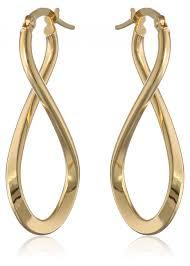 infinity earrings 14k italian yellow gold infinity drop earrings visuall co