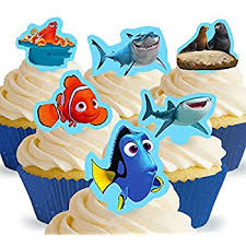 nemo cake toppers cakeshop 12 x pre cut finding dory finding nemo stand up edible