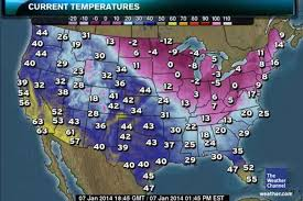 temperature map usa january images of frozen chicago reveal devastating effect of polar