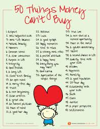 50 things money can t buy values to live by www