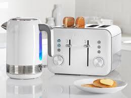 High Quality Toaster Breville Vtt687 4 Slice High Gloss Toaster White Amazon Co Uk