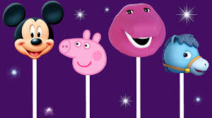 finger family song nursery rhyme peppa pig barney mickey mouse
