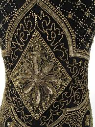 black and gold dress 1920s replica black gold bead sequin fringed flapper dress blue