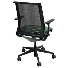 steelcase think used mesh back conference chair green line