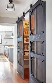 kitchen pantry doors ideas northshore farmhouse charming home tour sliding barn doors