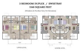 Different House Plans Narrow Lot Townhouse Plans Bedroom Duplex House Basic Floor With