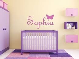Wall Name Decals For Nursery Butterfly Wall Decals Design Idea And Decorations