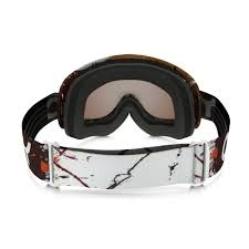 motocross goggle oakley factory splatter blood orange o frame mx goggle white black