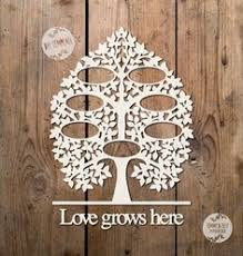 svg pdf 7 name family tree design papercutting template to
