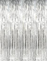 Silver Foil Curtains Metallic Silver Foil Curtain Hang It In Front Of Your Door To
