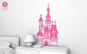 stickers chambre fille princesse sticker enfants chateau princesse xl stickers muraux chambres