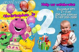 Barney Party Decorations Barney Birthday Invitations Free Invitation Ideas