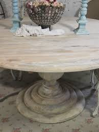 painted cottage chic shabby french linen round dining table farm