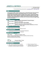 Best Business Resume Format my first resume template