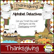 alphabet detectives thanksgiving the code by planet happy