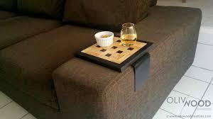 plateau pour canapé tablette accoudoir canapé maison image idée