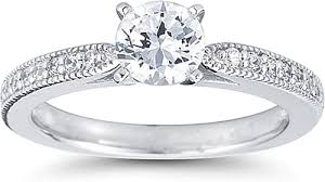 milgrain engagement ring pave cathedral engagement ring w milgrain us3060