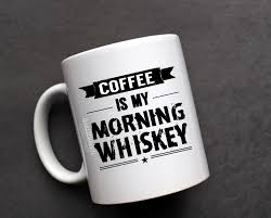 his and mug coffee is my morning whiskey coffee is my morning gift