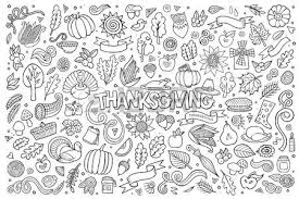 vector doodles on the subject of thanksgiving