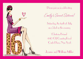 Party Invitation Cards Templates Excellent Sweet Sixteen Invitation Cards 22 On Happy Birthday