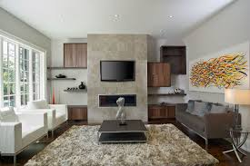 Design Living Room With Fireplace And Tv Modern Wall Storage Around A Fireplace For More On This Project