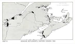 Eastern Canada Map by Mapping The Acadian Deportations Canadian Geographic