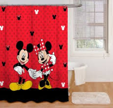 Red Polka Dot Curtains Mickey And Minnie Mouse Shower Curtains And Hooks