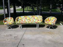 Patio Furniture Glider by Retro Patio Chair Cushions Retro Outdoor Glider Chair Mid Century