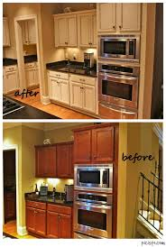 how to paint brown cabinets painted cabinets nashville tn before and after photos