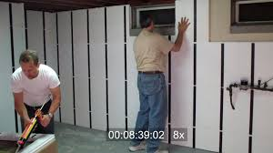 framing a basement wall with a door modern rooms colorful design