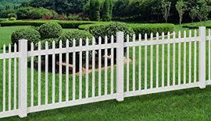 amazon com wambam no dig permanent nantucket picket vinyl fence