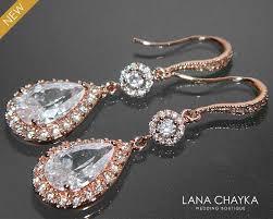 gold bridal earrings chandelier gold bridal earrings cubic zirconia chandelier