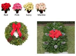 grave blankets reminder hf2 pointsettia wreath grave blankets and gift card