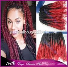 can you dye marley hair 2018 ombre marley hair kinky twist two tone black red color hot