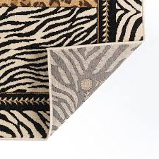 White Leopard Rug Universal Rugs Macie Transitional Animal Multi Color Rectangle