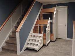 under basement stairs storage ideas amys office