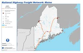 Portland Airport Terminal Map by National Highway Freight Network Map And Tables For Maine Fhwa