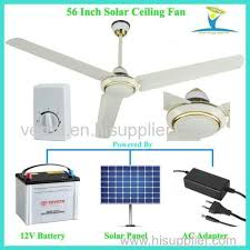 Solar Ceiling Fans by Rotary Switch Stepless Speed Control Solar Power Dc 12v Ceiling