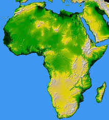 africa map color africa