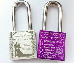 engraved wedding gift ideas the wedding season is in swing and a lock custom
