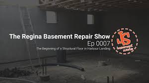 the regina basement repair show new home structural floor in